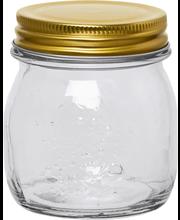 Lasipurkki kierrekannella 250 ml