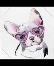 Canvastaulu koira 28x28