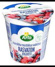 Arla 200 g rasvaton mansikka-mustikka-vadelma jogurtti