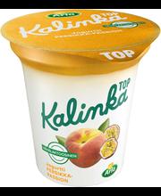 Arla Kalinka Top 150 g vähälaktoosinen persikka-passionkerrosjogurtti