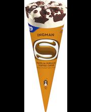 Ingman Iso 300ml vanilja-suklaa-toffee-crisp kermajäätelötuutti