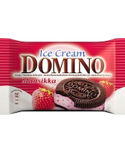Domino Ice Cream 76g/120ml Mansikkakermajäätelö välipala