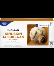 Ingman 1L Laktoositon kinuski-suklaa kermajäätelö