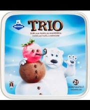 Ingman Trio 2L/922g suklaa-vanilja-mansikka kermajäätelö