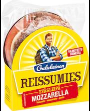 OULULAINEN Reissumies Eväsleipä Mozzarella ,tomaatti mozzarella pesto 145g täytetty täysjyväruisleipä