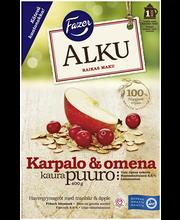 FAZER Alku 400g Karpalo & omena kaurapuuro hiutaleseos
