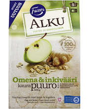 FAZER Alku 500g Omena & inkivääri kaurapuuro hiutaleseos