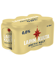 Lapin Kulta Arctic Malt 0% alkoholiton olut 6x0,33 l tölkki