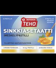 Bioteekin Teho Sinkkiasetaatti imeskelypastilli ravintolisä 24 tabl
