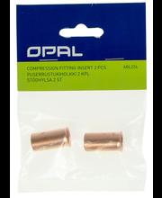 Opal puserrustukiholkki 18mm putkelle/2kpl