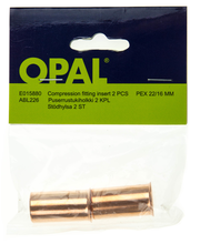 Opal puserrustukiholkki 22mm putkelle/2 kpl