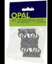 Opal putkipidin avoin krom. 2-os. 10 mm/4 kpl