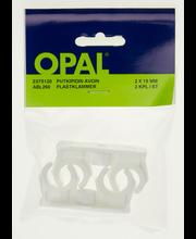 Opal putkipidin avoin valk.2x15mm/2kpl