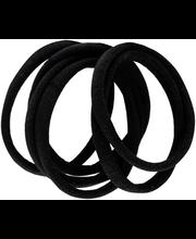 Ibero Hiuslenkki musta kangas 6kpl