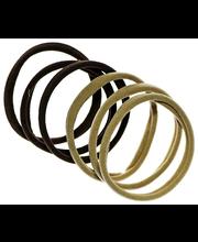 Ibero Hiuslenkki ruskea kangas 6kpl