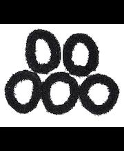 Ibero Hiuslenkki musta frotee 5kpl