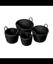 Polyrottinkikori musta 37