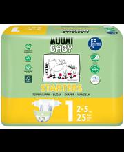 Muumi Baby Starters teippivaippa 1 - 25 kpl 2-5 kg
