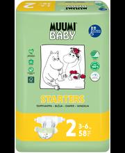 Muumi Baby Starters koko2 3-6kg 58kpl teippivaippa