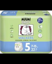 Muumi Baby Walkers koko5 7-15kg 22kpl housuvaippa