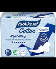 Vuokkoset 9kpl Cotton Night Wings siivellinen ohutside