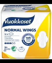 Vuokkoset 12kpl Normal Wings siivellinen ohutside