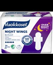 Vuokkoset Night Wings yöside 9 kpl