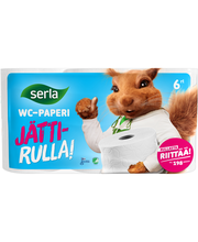 Serla WC-paperi 6rl Jättirulla valk