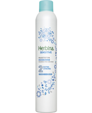 Herbina 400ml Sensitive erittäin voimakas tuki valkoinen tee hajusteeton hiuskiinne