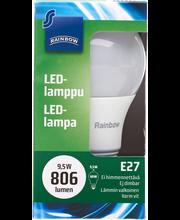LED-lamppu 9,5W E27, vakiokupu