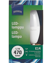 LED-lamppu 5,7W E14, kynttilä