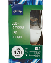 LED-lamppu 5,7W E1,4 kynttilä kirkas