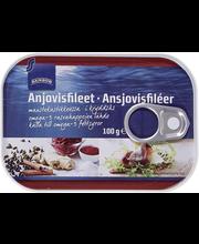 ANJOVISFILEET MAUSTEKASTIKKEESSA 100/65 g
