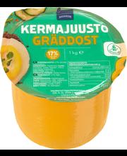 Rainbow Kermajuusto 17 %, 1 kg