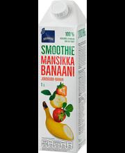Mansikka-banaani smoothie
