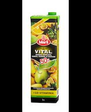 Marli Vital 1L 50% vähemmän lisättyä sokeria Hedelmänektari +10 vitamiinia