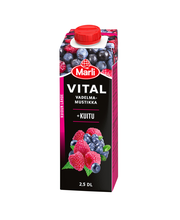 Marli Vital Vadelma-mustikkajuoma + kuitu 2,5dl
