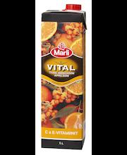 Marli Vital 1L Tyrnimarja-mandariini-appelsiini mehujuoma + C&E-vitamiinit