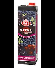 Marli Vital 1L Mustikka-aronia-rypälemehujuoma + D&C vitamiinia