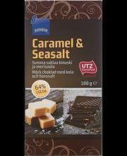 Tumma suklaa kinuski ja merisuola, 100 g