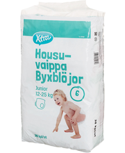 X-tra Housuvaippa junior 12-25 kg, koko 6, 38 kpl
