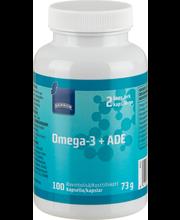 Rainbow Omega 3+ ADE kalaöljy-vitamiinikapseli, 100 kapselia 94 g