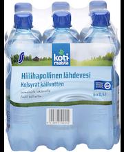 Hiilihapollinen lähdevesi 0,5 l 6-pack