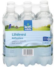 Lähdevesi  0,5L 6-pack