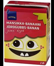 Rainbow Mansikka-banaanijuoma 2 dl