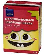Mansikka-banaanijuoma 2dl