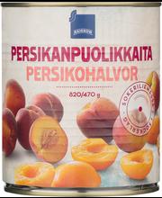 Persikanpuolikkaita sokeriliemessä 820/470 g