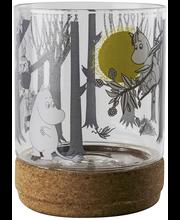 Muurla Muumi kynttilälyhty/purkki korkkialustalla 13cm