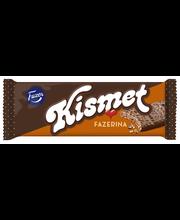 Kismet Fazerina 55g maitosuklaalla kuorrutettu vohveli, jossa appelsiinin makuista nougattäytettä (46%)