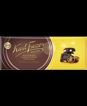 Karl Fazer tummaa suklaata ja kokonaisia hasselpähkinöitä suklaalevy 200g